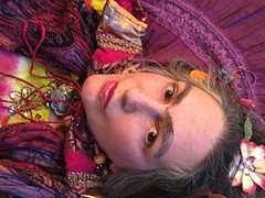 Frida Kahlo styled selfie: wait (Jen's Photography) Tags: iphone cellphone january winter 2018 centraltexas jensphotography austintexas austin south southaustin city urban atx austinphotography austintexasphotography me selfie female woman portrait photographer selfportrait fridakahlo costume styled stylized hairornaments scarf textiles patterns purple pink jewelry iphone6s