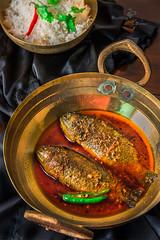 Tel Koi (Rimli D) Tags: foodstyling foodblog foodphotography foodpicture foodblogger foodporn food fish blogger bengalifood bengali moodphotography moody moodyshot festivalfood darkphotography dark iamnikon bangladeshifood indianfood nikkor nikon meal bread fishcurry bengalicurry
