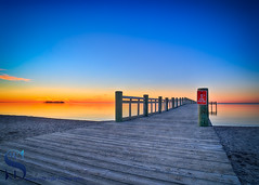 on the pier (Singing With Light) Tags: 2016 2017 20th alpha6500 ct charlesisland duckpond february milford mirrorless singingwithlight a6500 beach photography singingwithlightphotography sony sunrise walnutbeach winter