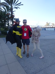 Batgirl and a Silent Hill Nurse (Sconderson Cosplay) Tags: comic con san diego sdcc 2016 batgirl silent hill cosplay