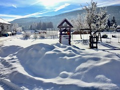 Bauernhof (Yacenty) Tags: winter snow austria sky