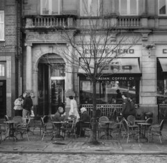 Cafe Nero (joshdgeorge7) Tags: coffee cafe culture town people blackandwhite ilford film voig voigtlander classic vintage