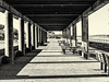 Pavilion--January (PAJ880) Tags: pavilion nantasket beach hull ma benches columns sunlight winter january offseason bw mono