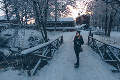 Walk in the park (]vincent[) Tags: kristinehamn sweden sverige white snow trip xmas christmas market people us portrait self you beautiful girl ginger santa claus red river pretty varmeland värmeland sony rx 100 mk iv vincent dusk picasso statue