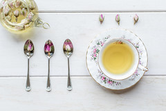 31/365: A nice cup of Rosie Lee (2) (judi may) Tags: 365the2018edition 3652018 day31365 31jan18 teacup cupandsaucer spoons bonechina pretty teapot glass glassteapot rosebuds rosebudtea tea wood flatlay stilllife drink teaspoons vintage vintageteacup vintageteaspoons canon7d 50mm