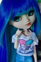 (kimberly °(ᵔᴥᵔ)°) Tags: littletwinstars fashion barbie pullip pullips doll dolls obitsu custom prunella blue hair wig
