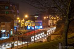 John Street at night (mythicalireland) Tags: street road drogheda john dual carriageway lights long exposure trails cars bull ring