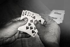 Week 5, TEN, Full House (lleon1126) Tags: ten fullhouse trevorcarpenterphotochallenge poker game blackandwhite hands