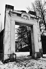 Bank of Nova Scotia Entrance 1903-1969 (Rackelh) Tags: entrance architecture building structure blackandwhite park toronto canada history