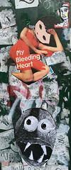 PhoebeNewYork -- My Bleeding Heart (TheMachineStops) Tags: 2018 nyc newyorkcity manhattan outdoor illustration urbanart face phoebenewyork pasteup sticker streetart wheatpaste iphone8