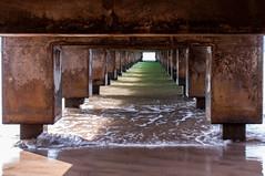 Under Hanalei Pier (bfluegie) Tags: hanaleibay hanaleipier hawaii kauai beach ocean pier water d90 nikond90