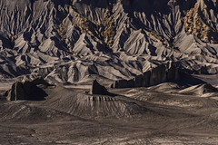 DSC_3258_THE FORBIDDEN LAND (antelope reflection) Tags: mountains capitolreef nationalpark erosion black utah nikond750 badlands outdoor southwest rock sand landscape sky caineville texture hanksville