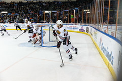 """Kansas City Mavericks vs. Indy Fuel, February 17, 2018, Silverstein Eye Centers Arena, Independence, Missouri.  Photo: © John Howe / Howe Creative Photography, all rights reserved 2018 • <a style=""""font-size:0.8em;"""" href=""""http://www.flickr.com/photos/134016632@N02/39490835745/"""" target=""""_blank"""">View on Flickr</a>"""