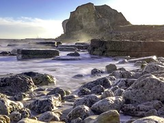 Trow Rocks, South Shields. England. (Mark240590) Tags: coast seaside exposure long longexposure longexpo sea rock