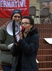 The Right To Fight (Scott 97006) Tags: woman megaphone voise speech protest
