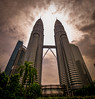 DSC_2909 2 (ssarpatre) Tags: petronas twin tower kuala lumpur architecture sun clouds sky travel