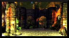 ~ Mystic Isle ~ (♥ Second Life) Tags: second life destinations mystic isle fairies trolls island books ruins unicorn hut scryers bowl nature forest jungle beach tiki bar dogs balloons alice wonderland