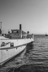 """Le """"Neuchâtel"""" (Lawrencexx79) Tags: boat vapeur lac lake port monochrome noir et blanc black white water oldtime neuchâtel switzerland"""
