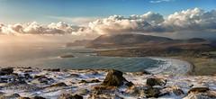 Keel Pano (mickreynolds) Tags: keel achill comayo ireland wildatlanticway beach atlantic mountains nx500 45mm stitch lovemayo