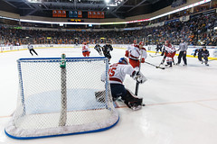 "Kansas City Mavericks vs. Allen Americans, February 24, 2018, Silverstein Eye Centers Arena, Independence, Missouri.  Photo: © John Howe / Howe Creative Photography, all rights reserved 2018 • <a style=""font-size:0.8em;"" href=""http://www.flickr.com/photos/134016632@N02/39605112845/"" target=""_blank"">View on Flickr</a>"