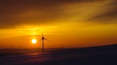 immer weiter (Timo Nennen) Tags: sunset sun sonne nature natur westerwald winter schnee snow windturbines turbine wind windturbine windräder kraft power windkraft schatten shadows