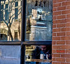 window panes (lifecatcher2010) Tags: 32a0 window panes frost steam reflection mug man architecture streetphotography hfg