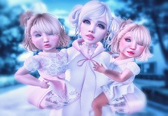 With my daughters <3 (ZameNezrulain (:Etherion:)) Tags: twins family daughters friends friendship zame hydra lulu photo photography photoshop art edit mesh bento toddleedoo bebe kawaii cute secondlife sl second life