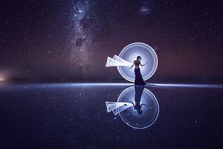 Milkyway tube light-painting