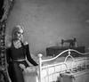 Olivia Bedroom Mirror (John ME Photography) Tags: mirror bedroom woman beautiful portrait studio bed blackwhite lady sewing machine