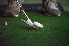 Golf Ball Impact (OperatorSJY) Tags: golf ball wedge impact gh5 35100mm sports pga golfing golfers