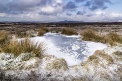 Pool (l4ts) Tags: landscape derbyshire peakdistrict darkpeak winter snow stanageedge moorland pool frozen ice winhill losehill kinderscout mamtor gritstone gritstoneedge grasses