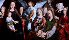 IMG_2146B Gérard David.  1460 1523. Bruges.   La Vierge entre les vierges. The Virgin among the virgins 1509.   Rouen Musée des Beaux Arts (jean louis mazieres) Tags: peintres peintures painting musée museum museo france normandie rouen muséedesbeauxarts gérarddavid