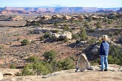 The Kids On The Slickrock Trail (Joe Shlabotnik) Tags: nationalpark utah violet hiking 2017 canyonlands everett november2017 canyonlandsnationalpark afsdxvrzoomnikkor18105mmf3556ged