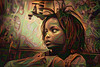 Little african girl (cirooduber) Tags: visualart awardtree trollieexcellence digitalarttaiwan ostagram deepdream africa girl