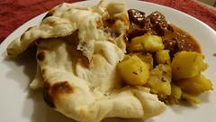 Indian food (Sandy Austin) Tags: panasoniclumixdmcfz70 sandyaustin westauckland auckland northisland newzealand curry naan bread beefcurry potatocurry