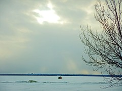 lac Deschenes frozen in time DSCN2553 (dodochampo) Tags: ice snow winter hiver glace neige lac lake icefishing hut