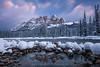 7863 Castle Mountain Reflections (kylebarendrick) Tags: banff bowriver canada castlemountain weatherandseasons snow sunrise winter