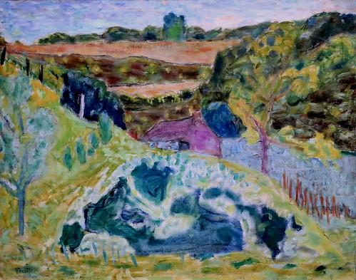 IMG_7734 Pierre Bonnard. 1867-1947. Paris. Paysage à la maison violette. Violet house landscape. 1929. Paris. Orsay.