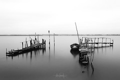 How come I end up where I started (RuiFAFerreira) Tags: aged beauty bw black wide white waterscape water canon 1855mm exterior grain blackwhite pier light landscape long longexposure exposure mood old portugal