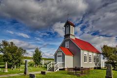 Reykholtskirkja - Iceland (dejott1708) Tags: ísland iceland reykholtskirkja church hdr architecture clouds sunshine graves