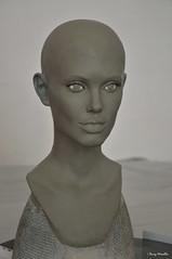 My new life-size sculpture 02 (Terry Minella) Tags: sculpture schaufensterfigur scale11 screen échelle11 cinema portrait lifesize celebrity clay actress actrice lifelike