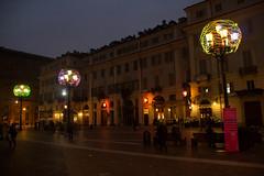 Piazza Carignano, Torino - Italy (Marconerix) Tags: torino italia italy turin downtown centro street urban night bynight lucidartista lights christmas