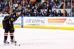 "Kansas City Mavericks vs. Florida Everblades, February 18, 2018, Silverstein Eye Centers Arena, Independence, Missouri.  Photo: © John Howe / Howe Creative Photography, all rights reserved 2018 • <a style=""font-size:0.8em;"" href=""http://www.flickr.com/photos/134016632@N02/40342825422/"" target=""_blank"">View on Flickr</a>"