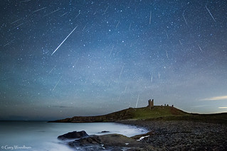 Geminid Meteor Shower - Lilburn Tower, Dunstanburgh Castle, Northumberland