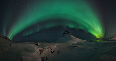 Aurora Over Kirkjufell (GoMustang - 奔驰野马) Tags: northern light kirkjufell iceland nightscape night