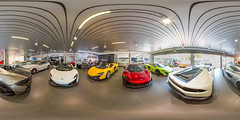 Mclaren Showroom 360° (Paul Saad) Tags: 360° mclaren ferrari lamborghini wheels johannesburg nikon fisheye wide lens spherical car daytona sandton rivonai