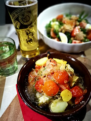 Cod fish (MelindaChan ^..^) Tags: italy 意大利 cod fish food eat yummy 魚 chanmelmel mel melinda melindachan restaurant cuisine meal dinner lunch tomato dish plate italian salad