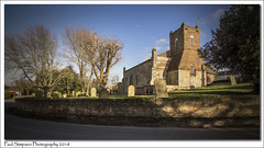 St Michael's, Skidby, East Yorkshire (Paul Simpson Photography) Tags: church religion religious yorkshire eastriding northhumberside villagechurch sonya77 february2018 sunshine paulsimpsonphotography graves trees bluesky cold sunnyday shadows england photosof photoof imagesof imageof churchtower stmichael smallchurch churchwall