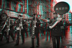 New York, New York (DDDavid Hazan) Tags: newyork ny nyc newyorkcity manhattan chinatown chinesenewyear lunarnewyear street parade confetti anaglyph 3d bwanaglyph blackandwhiteanaglyph 3danaglyph 3dstereophotography redcyan redcyan3d stereophotography stereo3d streetphotography people nypd police flag marchingband band