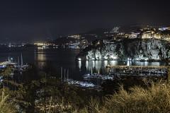 Agropoli - Panorama del porto e della Rocca (58lilu58) Tags: notte rocca night luci lights riflessi canon canon760d landscape paesaggio